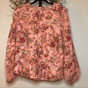 NWT Loft floral blouse